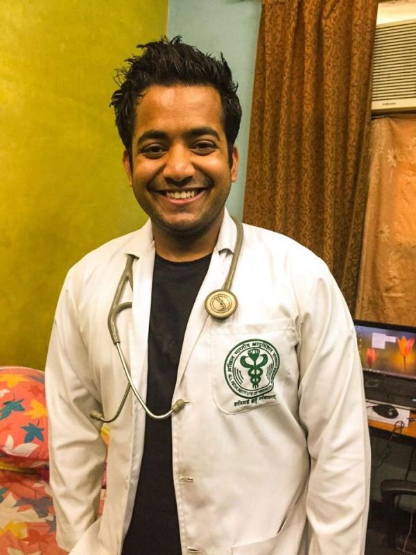 Roman Saini at the junior resident doctor