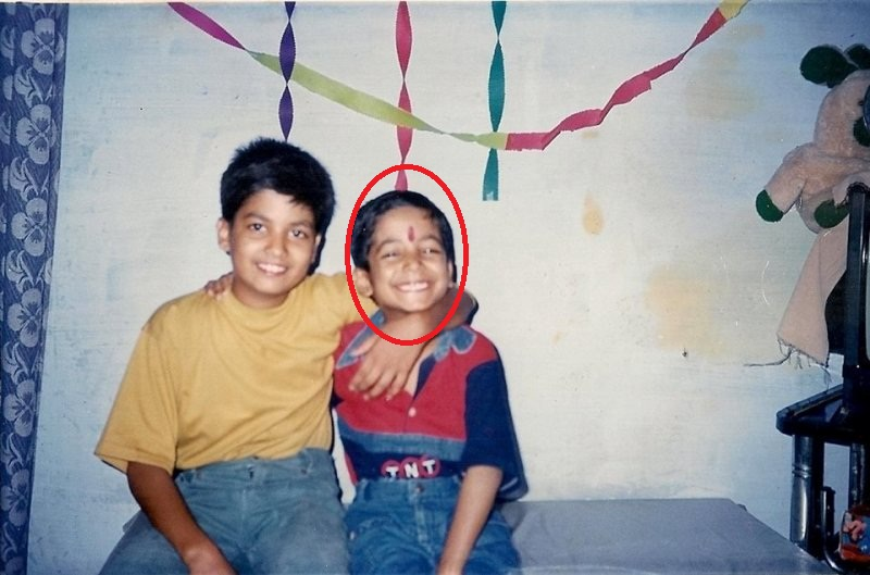 Roman Saini with his brother