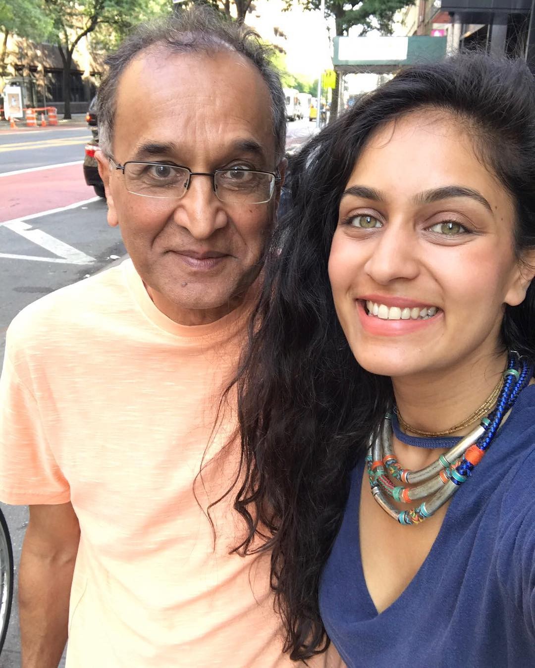 Roshni Devlukia with her father