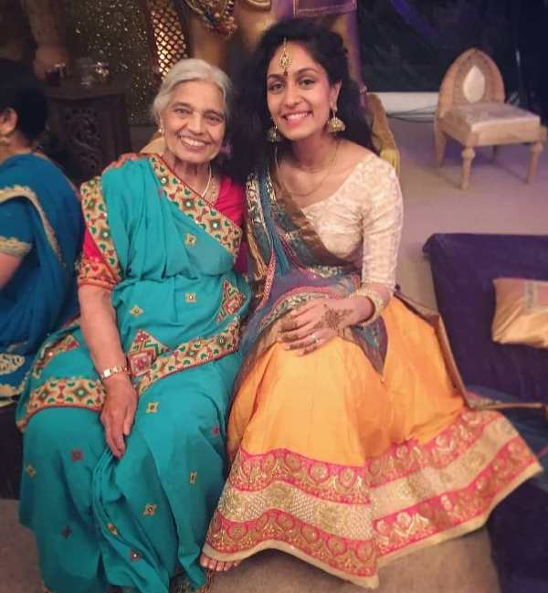 Roshni Devlukia with her grandmother