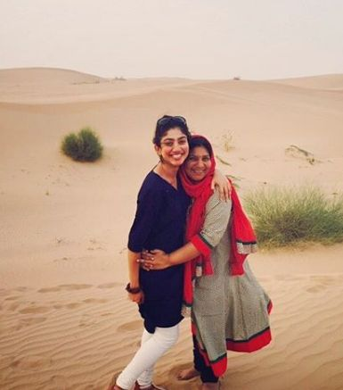 Sai Pallavi With Her Mother