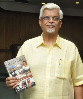 Sanjaya Baru with his Book, The Accidental Prime Minister
