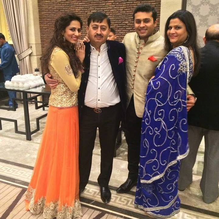 Sargun Mehta's Family picture