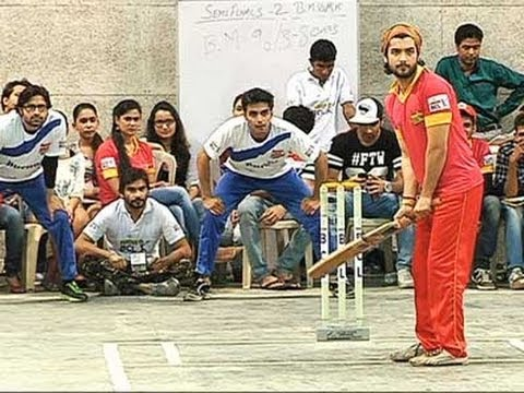 Sharad Malhotra playing cricket