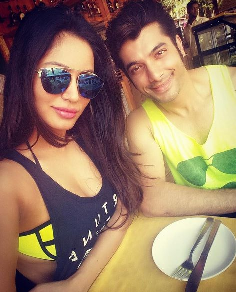 Sharad Malhotra with Pooja Bisht