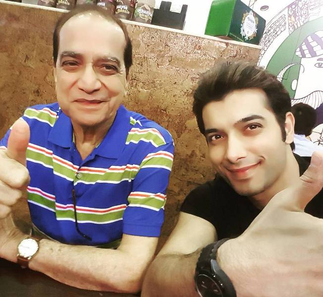 Sharad Malhotra with his father