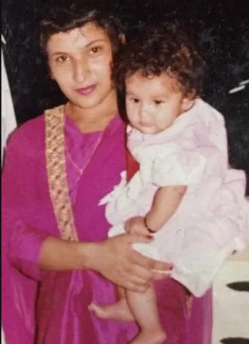Shehnaz Kaur Gill in her childhood