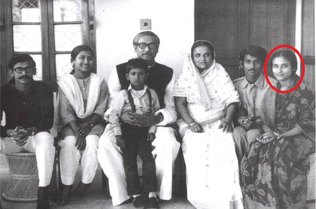 Sheikh Hasina with her family