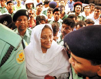 Sheikh Hasina's arrest on charges of corruption