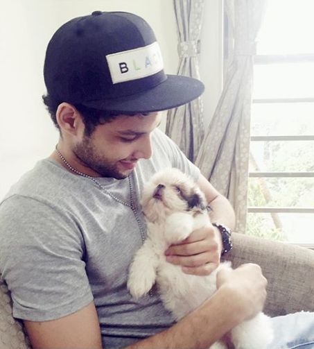 Siddhant Chaturvedi with his dog