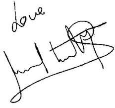 Sunil Shetty's signature