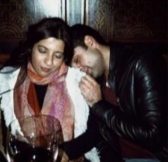 Zoya Akhtar and Abhay Deol with a glass of Wine
