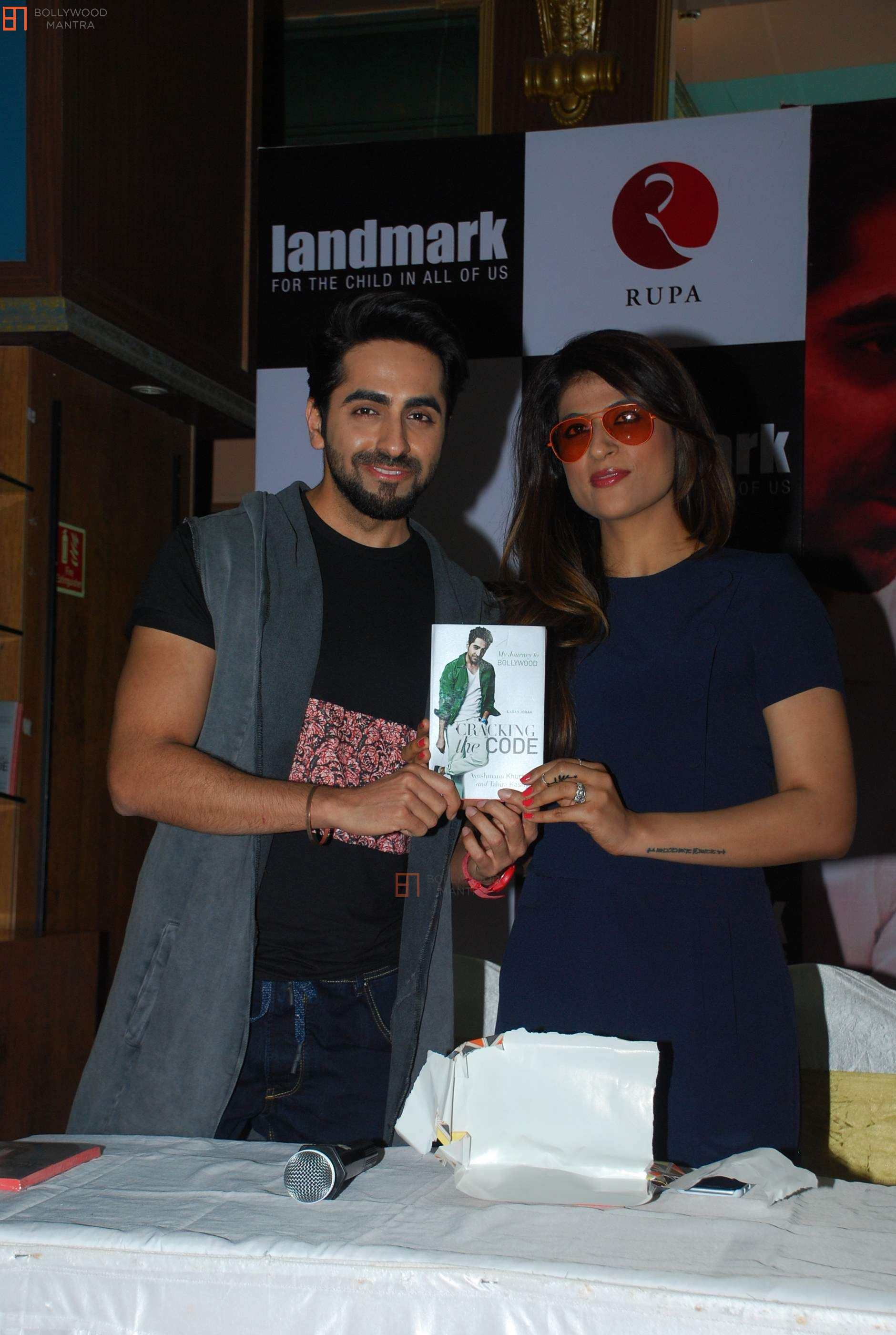 "Tahira and Ayushmann at the launch of ""Cracking the Code""."