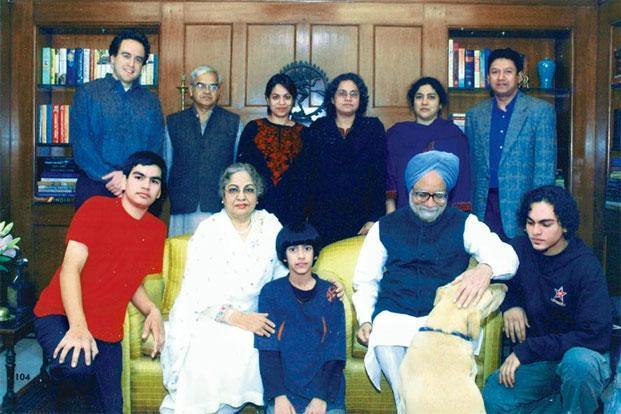 Gursharan Kaur with her family