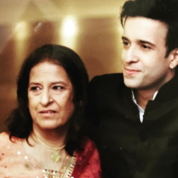 Aamir Ali with his mother
