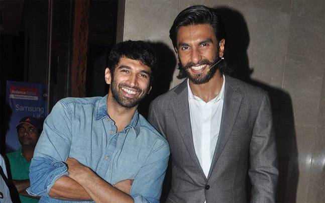 Aditya Roy Kapur with Ranveer Singh