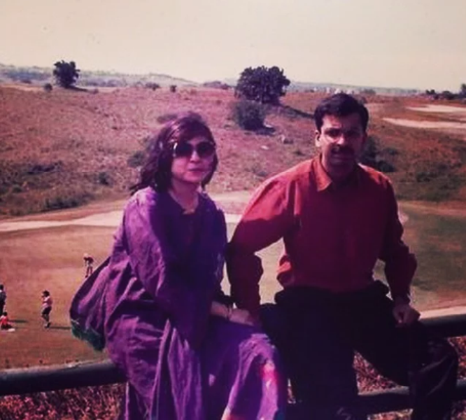 Alka Yagnik with her husband Neeraj Kapoor