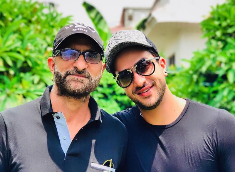 Aly Goni with his father
