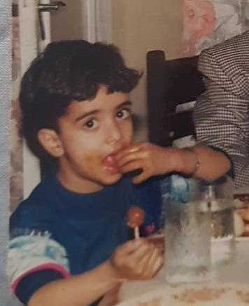 Aly Goni's childhood picture