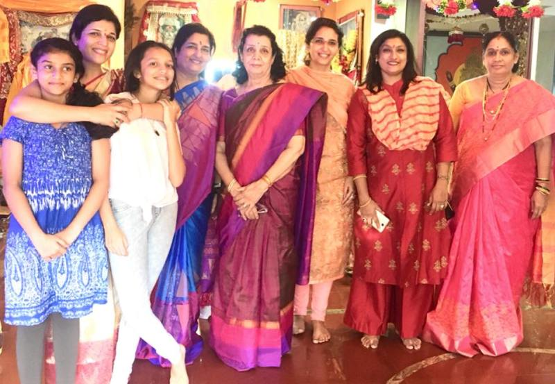 Anuradha Paudwal with her Family