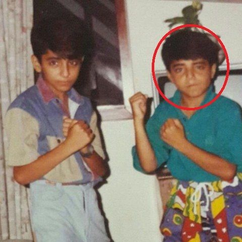 Aparshakti Khurana in his childhood