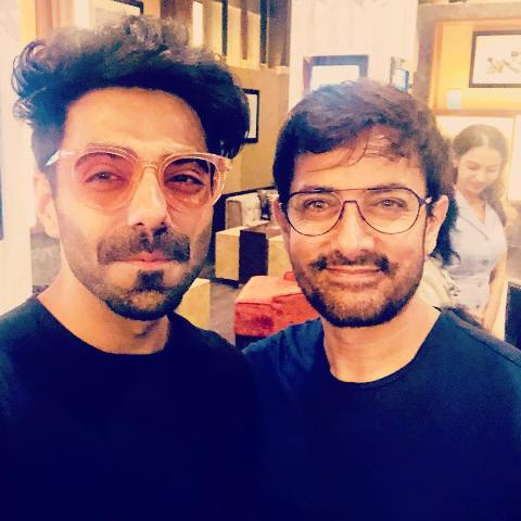 Aparshakti Khurana with Aamir Khan