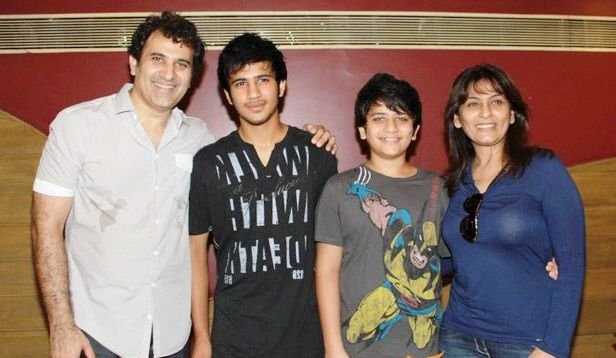 Archana Puran Singh with her husband and sons