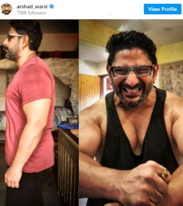 Arshad Warsi's Instagram post about his body transformation