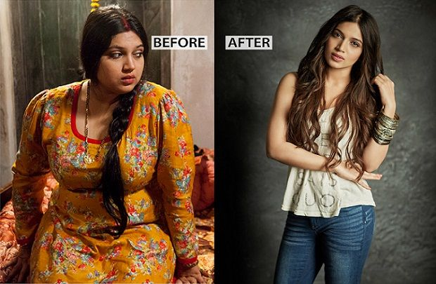 Bhumi Pednekar before and after weight loss