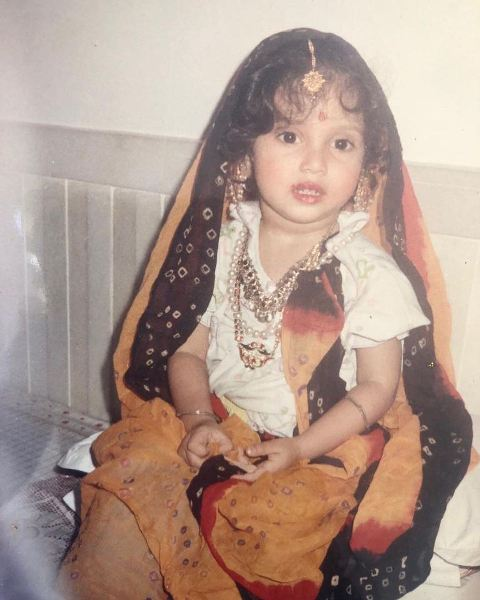 Bhumi Pednekar in her childhood