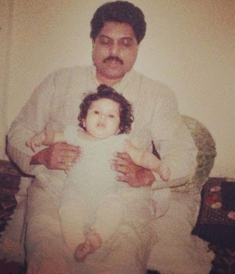 Bhumi Pednekar with her father