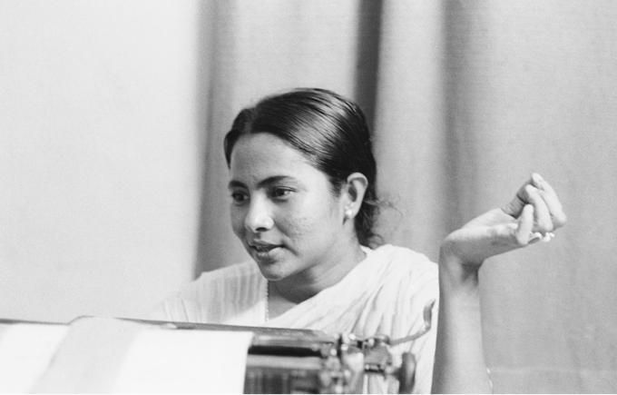 Early photo of Mamta Banerjee