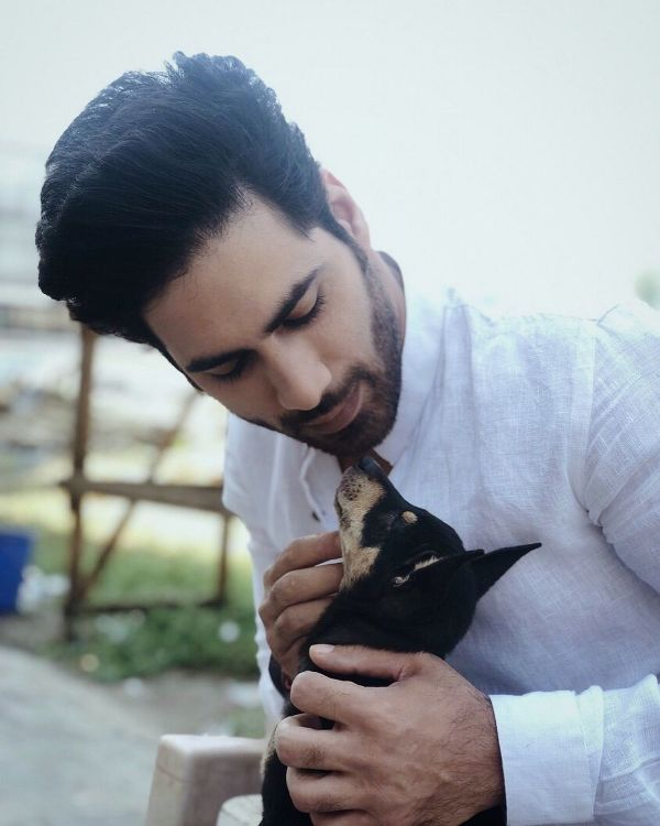 Gaurav Alugh with dog