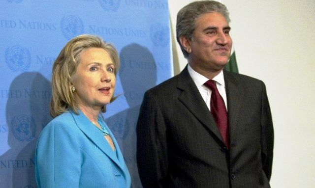 Hillary Clinton and Shah Mehmood Qureshi
