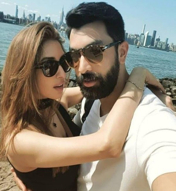 Iman Ali with her husband