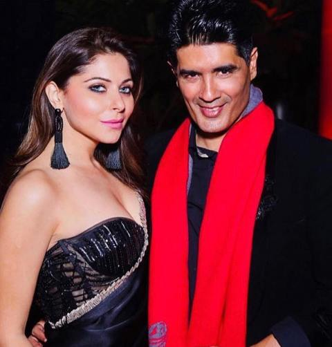 Kanika Kapoor with Manish Malohtra