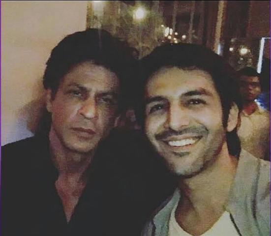 Kartik Aaryan with Shah Rukh Khan