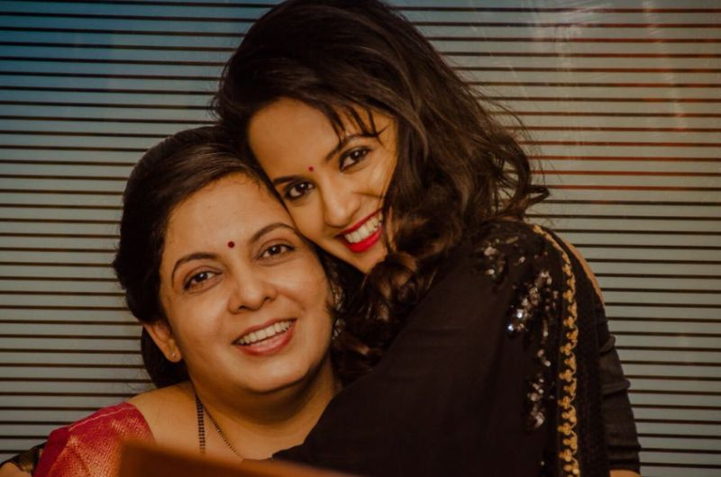 Ketaki Mategaonkar with her mother