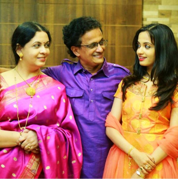 Ketaki Mategaonkar with her parents