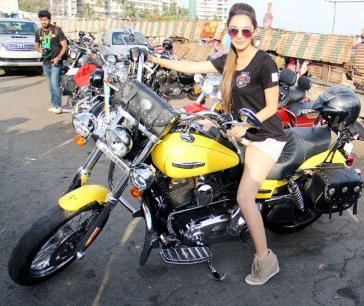 Kiara Advani Posing With A Bike