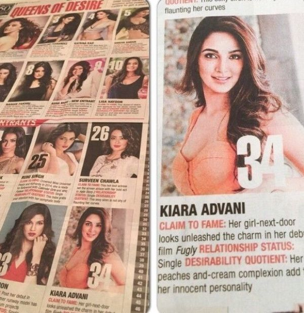 Kiara Advani Voted Most Desirable Women Of The Year