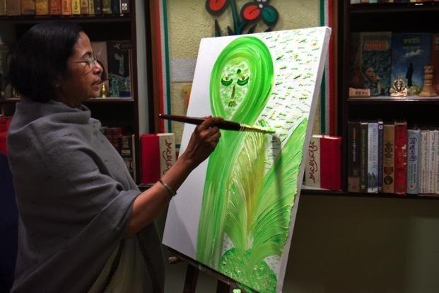 Mamata Banerjee is an avid painter