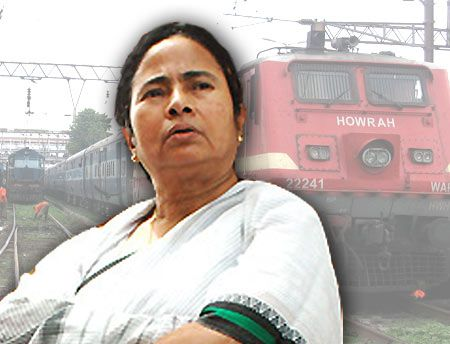 Mamta Banerjee as Railway Minister