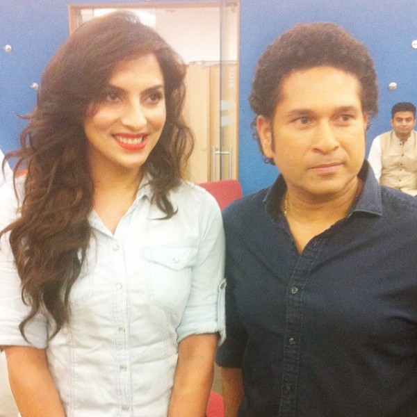 Mansi Sharma with Sachin Tendulkar