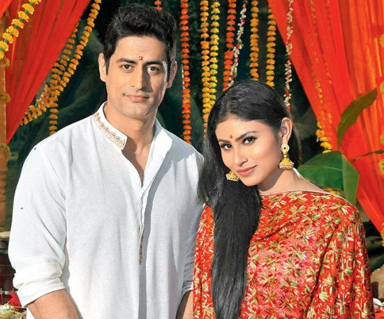 Mohit Raina with Mouni Roy