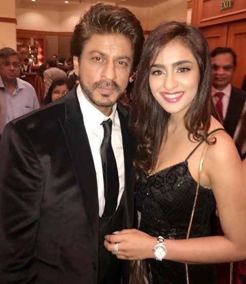 Musskan Sethi with Shah Rukh Khan