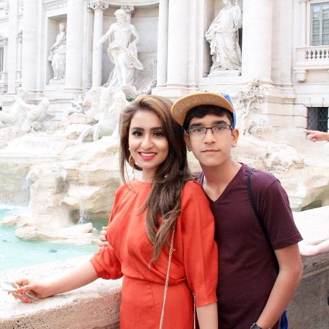 Musskan Sethi with her bro
