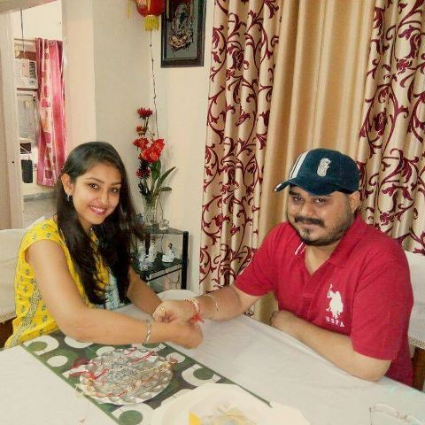 Navneet Kaur Dhillon with her brother
