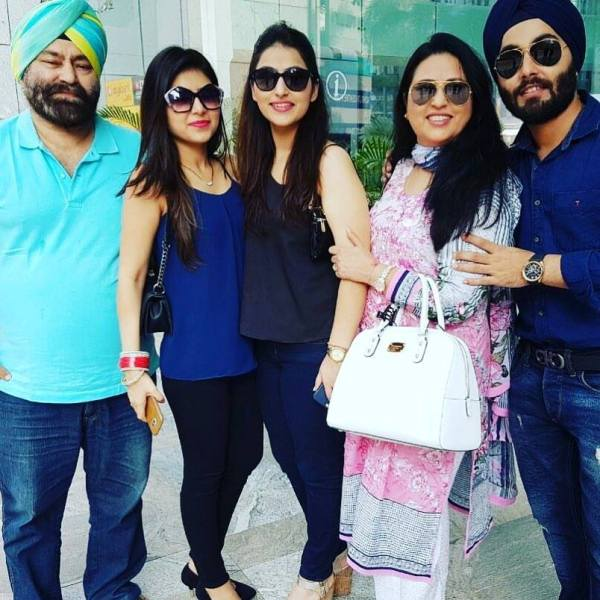 Nilu Kohli with her family