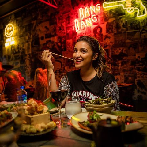Parineeti Chopra enjoying her food